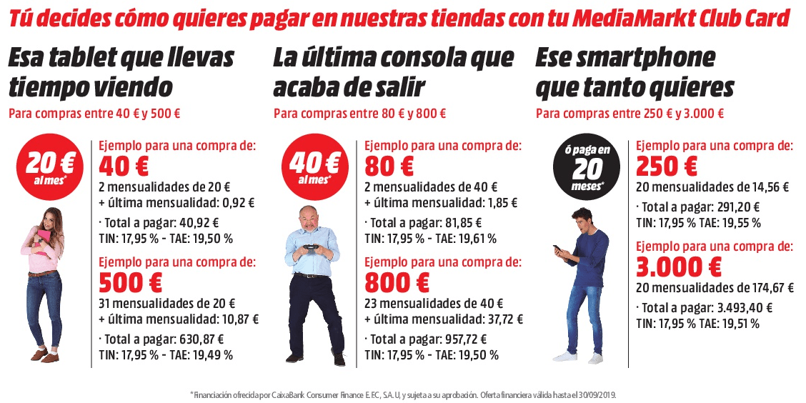 Financiación MediaMarkt Club Card