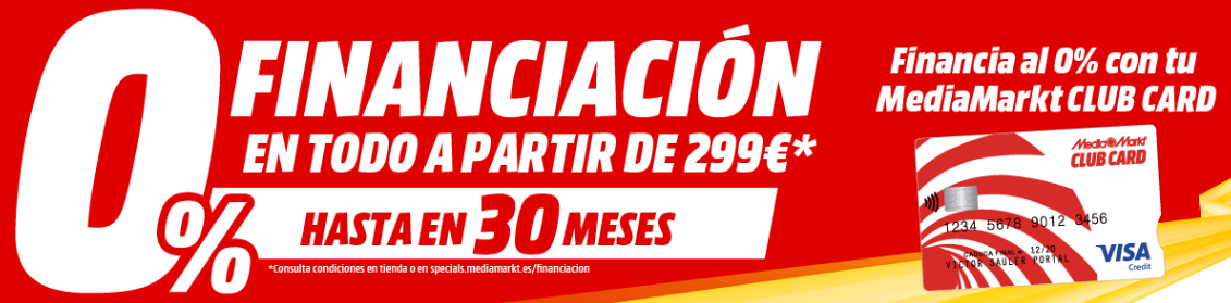 Financiacion MediaMarkt Club Card 0 interés