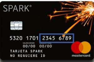 Tarjeta Spark Prepago Mastercard